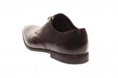 Clarks Herren Schnürer/Businessschuh Bampton Lace black leather (Schwarz) 261197957