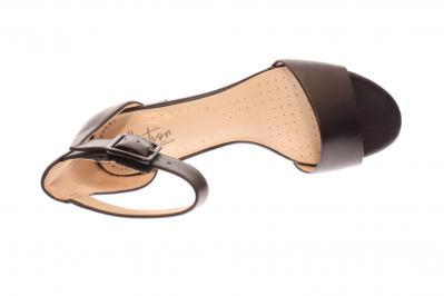 Clarks Damen Sandalette Deva Mae BLACK LEATHER (Schwarz) 261400074
