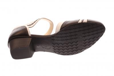 Maria Shoes Damen Sandale/Pumps schwarz/weiß (Schwarz) A022
