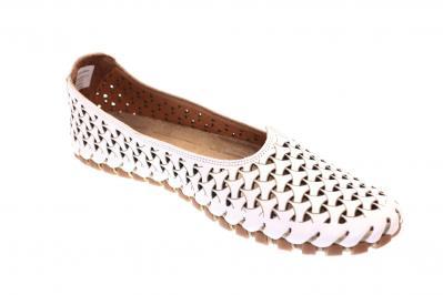 Gemini Damen Ballerina/Slipper weiß 31200-02 001