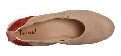 Think Damen Ballerina CUGAL NUDE/KOMBI (Beige) 6-86210-29