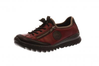 Rieker Damen Halbschuh/Sneaker schwarz/wine/dust/sc (Rot) M6269-00