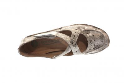 Softwaves Damen Slipper white crakle (Weiß) 4.69.04
