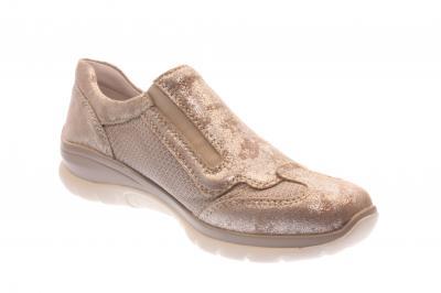 Remonte Damen Halbschuh/Sneaker/Slipper beige-silver/fog (Beige) D5305-60