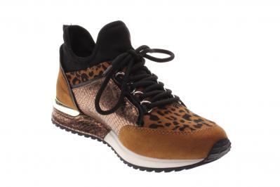 La Strada Damen Halbschuh/Sneaker/Slipper micer tan+leopard (Braun) 1900356-2226