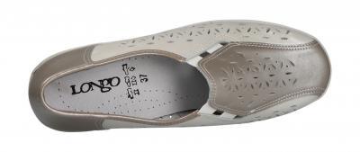 Longo Damen Halbschuh/Slipper Longo G beige/platin (Grau) 1006543