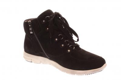 Caprice Damen Sneaker/Stiefelette BLACK SUEDE (Schwarz) 9-9-25204-21/004