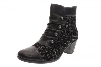 Remonte Damen Stiefel/Stiefelette schwarz/schwarz/silb (Schwarz) D8792-02