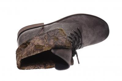 PintoDiBlu Damen Stiefel/Stiefelette 209 gris /floral (Grau) 80721-209