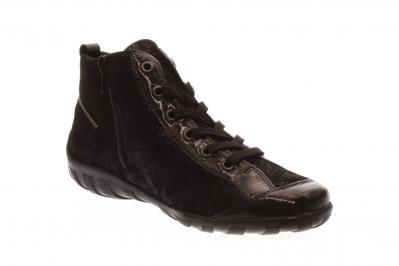 Remonte Damen Schnürer/Sneaker/Stiefelette black/pazifik-metall (Blau) R3446-14