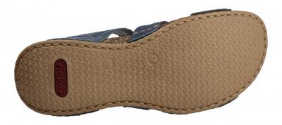 Rieker Damen Pantolette azur/pazifik (Blau) 61185-12