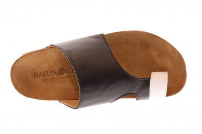 Haflinger Damen Pantolette Bio Anka schwarz/weiß (Schwarz) 819061-0-920