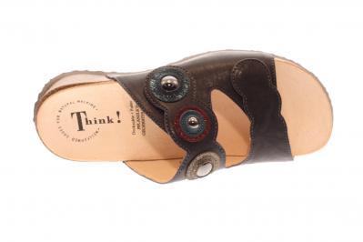 Think Damen Pantolette Mizzi VULCANO/KOMBI (Grau) 3-83361-21