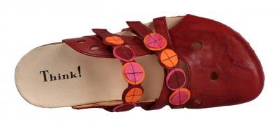 Think Damen Pantolette/Hausschuh JULIA CHERRY/KOMBI (Rot) 0-686848-7400