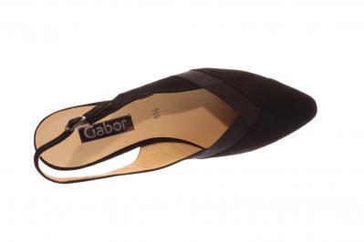 Gabor Damen Sandale/Sandalette/Slingpumps schwarz 25.631.17