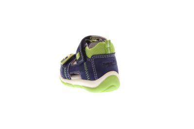 Superfit Kinder Sandale Freddy BLAU/HELLGRÜN (Blau) 4-00144-80