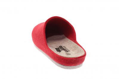Longo Damen Pantolette/Hausschuh Longo G rot 1032887