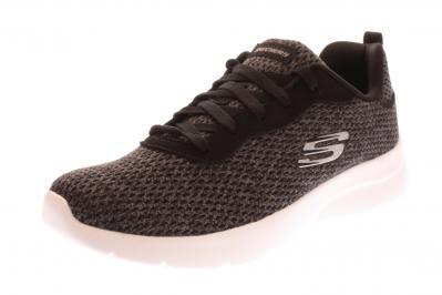 Skechers Damen Sneaker Dynamight Memory Foa black white (Grau) 12966BKW