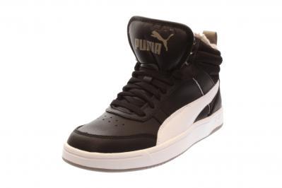 Puma Damen Sneaker Rebound Streetv2 Fur PUMA BLACK-PUMA WHIT (Schwarz) 363919 004
