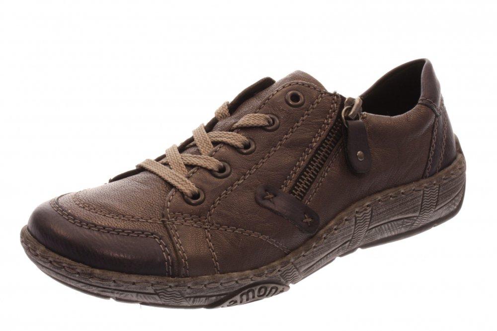 86702382cd5e7d Remonte Damen Halbschuh Schnürer Sneaker ozean fumo (Grau) D3808-45 ...