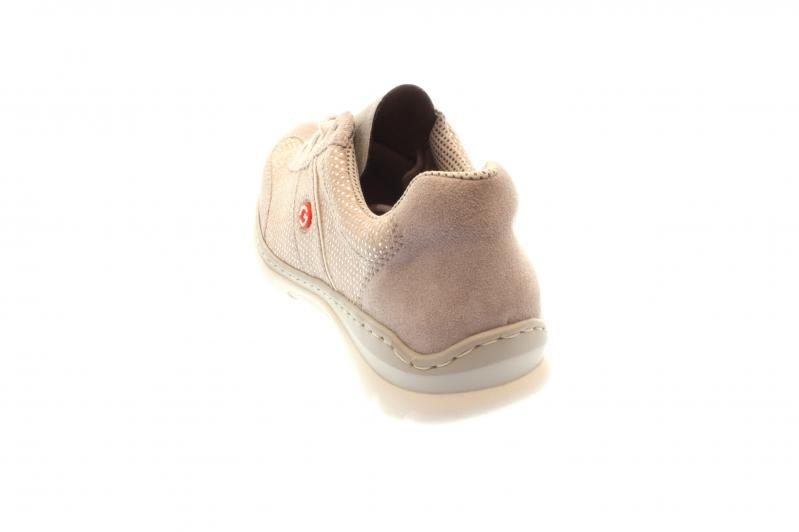 eda5e18d6998 Rieker Damen Halbschuh Schnürer Sneaker vapor staub argento (Grau) L3220-40