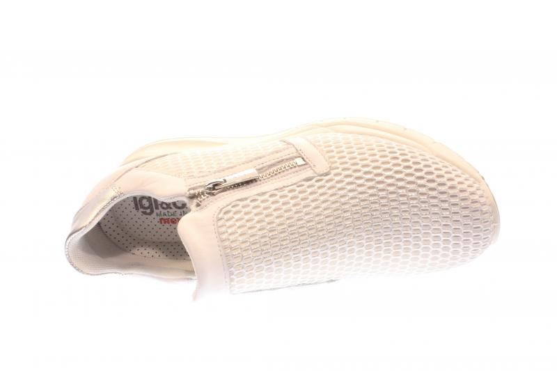 IGI /& Co Damen Halbschuh//Sneaker//Slipper bianco//argento Silber 7776300