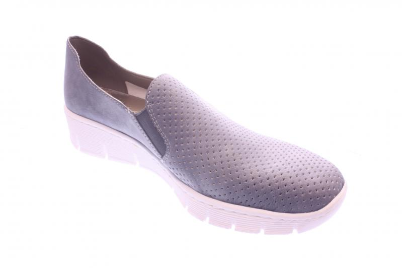 sports shoes 6b0ee 5e414 Rieker Damen Halbschuh/Slipper blue (Blau) 537A5-12