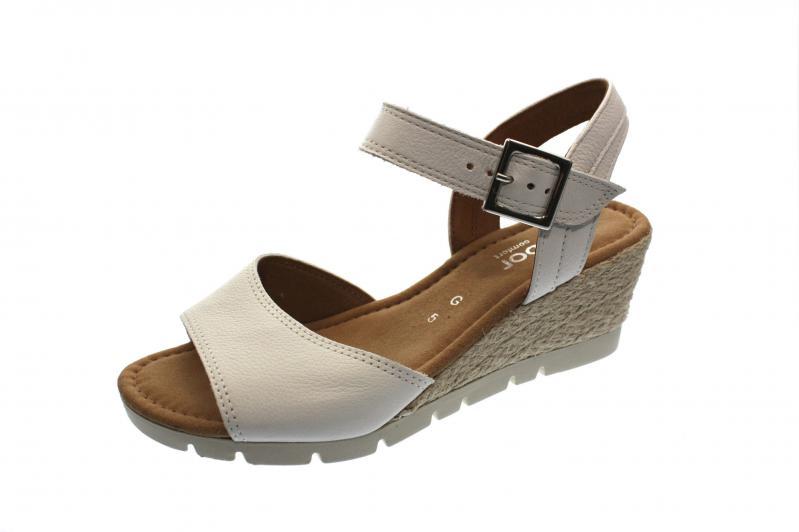 436f03bf0e6851 Gabor Damen Sandale Sandalette weiss (Jute) (Weiß) 82.842.50