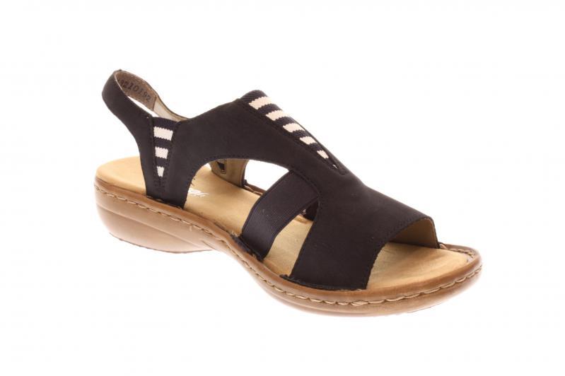 Rieker Damen Sandale blau 608Y7 14