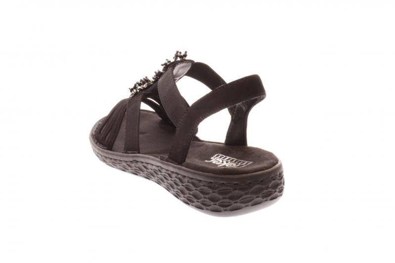 Details zu Rieker Damen SandaleSandalette schwarz V22G1 00