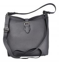Voi Leather Design - Damentasche/Umhängetasche Nita steel (Grau) 22037 steel