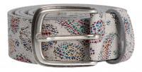 Cintura - MGM - Damengürtel 35 mm weiß/multi (Mehrfarbig) 383/35/2115