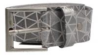 Cintura - MGM - Damengürtel 40 mm silber,weiß (Weiß) 386/40/2773