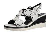 Tamaris Damen Sandale/Sandalette WHITE/BLACK (Weiß) 1-1-28312-24-125